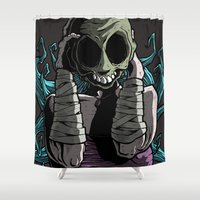 butcher billy Shower Curtains featuring Destiny Butcher by JGag