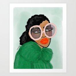 Green Coat Art Print