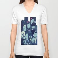 blade runner V-neck T-shirts featuring Blade Runner by Ale Giorgini
