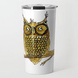 Overly Caffeinated Owl Travel Mug