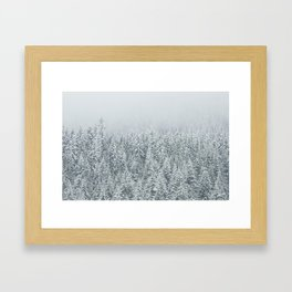 snow  forest winter trees Framed Art Print