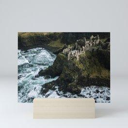 Castle ruin by the irish sea - Landscape Photography Mini Art Print