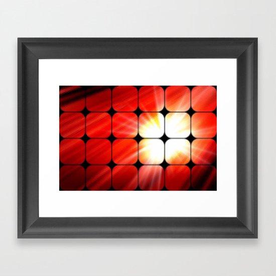 Windows as the sun. Framed Art Print