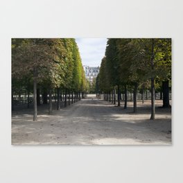 Tuileries Garden in the fall Canvas Print