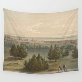 Vintage Pictorial View of Toronto Canada (1851) Wall Tapestry