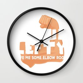 Proud Lefty design Funny Left Handed Some Elbow Room Gift Wall Clock