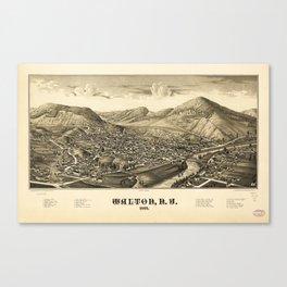 Aerial View of Walton, New York (1887) Canvas Print