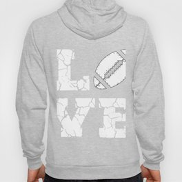 I Love American Football Game Player Mom Dad Design Hoody