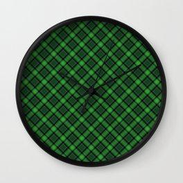Green Scottish Fabric High Res Wall Clock