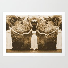 Woman On The Water Art Print