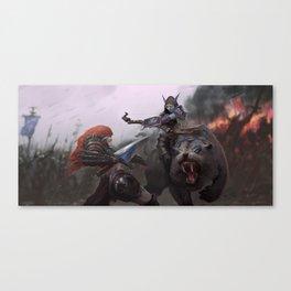 Sonya vs Sylvanas Canvas Print