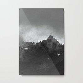 Foggy Norwegian Fjord Moutain Metal Print