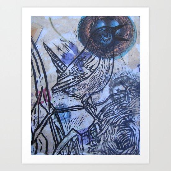 the warbler Art Print