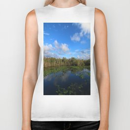 Blue Hour In The Everglades Biker Tank