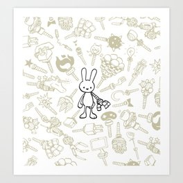 minima - beta bunny / gear Art Print