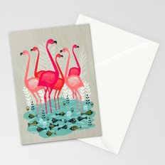 Flamingos by Andrea Lauren  Stationery Cards