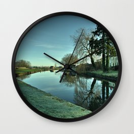 Moorings Reflections Wall Clock