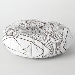 Geometric Wolf Floor Pillow