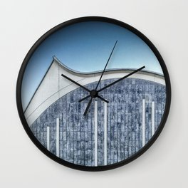 Architecture blue Wall Clock