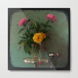 Grandma's Peonies - Through The Viewfinder (TTV) Metal Print