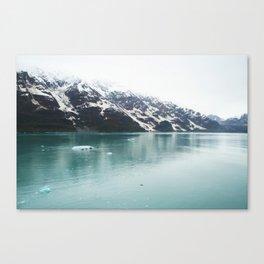 Hubbard Glacier Snowy Mountains Alaska Wilderness Canvas Print