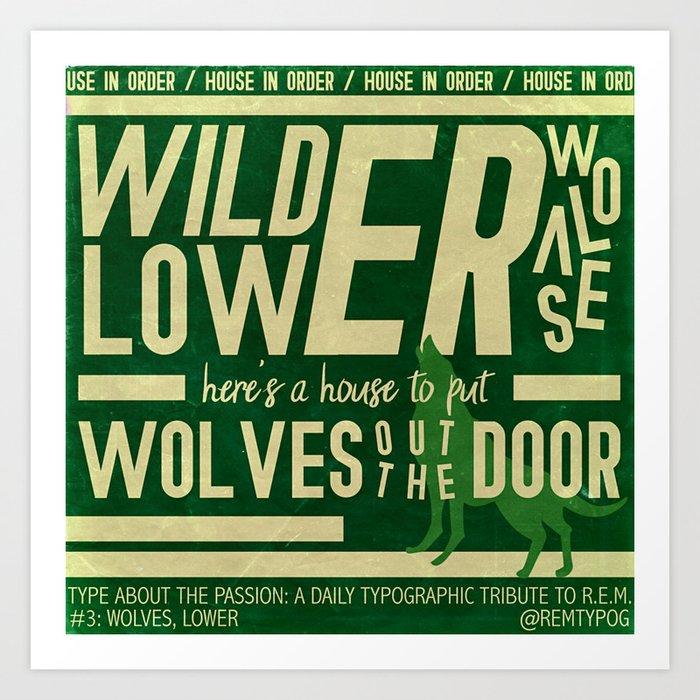 Wolves, Lower Art Print