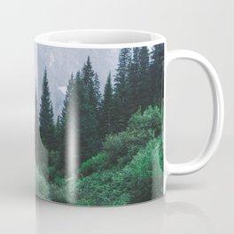 Mountain Through The Lush Forest Coffee Mug