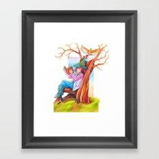 The beginning of an adventure Framed Art Print