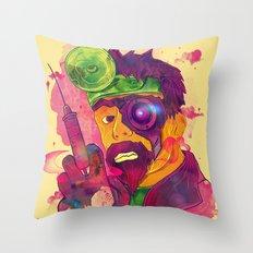 Dr. FraCryStein Throw Pillow