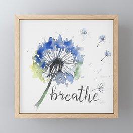 Breathe! Dandelion Floral Botanical Art Framed Mini Art Print