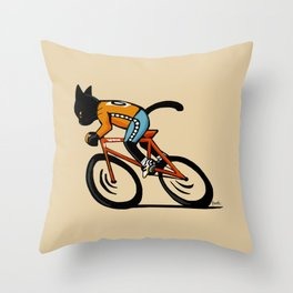 Cycle sport Throw Pillow