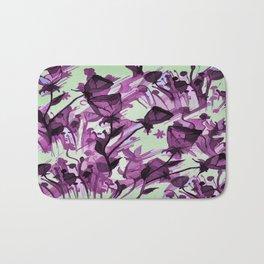 Painterly Graceful Flowing Flowers Bath Mat