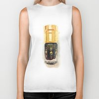 perfume Biker Tanks featuring Perfume by Herself