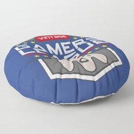 Geeky Gamer Chic Classic Vintage Gaming N64 Inspired Vintage Gamer League Old School Cool Floor Pillow