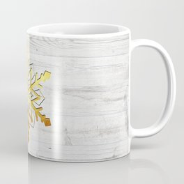 Snow in Gold Coffee Mug