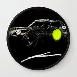 Jaguar sl yellow Wall Clock