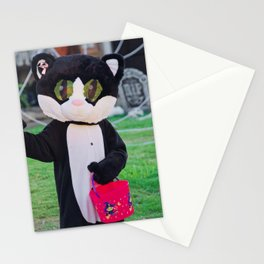 Cute Cat Costume on Halloween! Stationery Cards