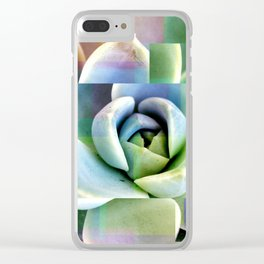Succulents collage Clear iPhone Case