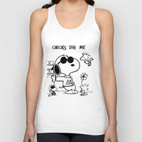 "snoopy Tank Tops featuring Snoopy ""Chicks Dig Me"" by Blue Orchid Photography"