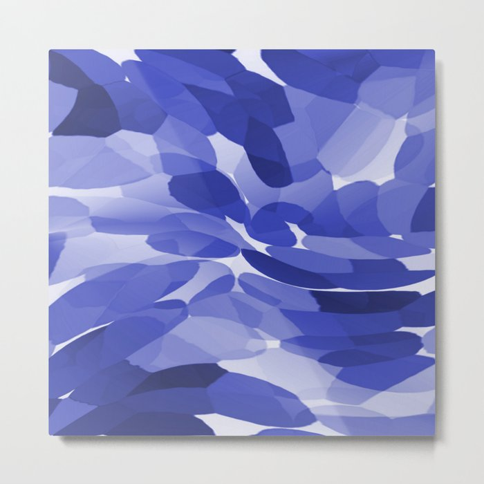 Abstract Leaves and Petals - Blue Colors  #decor #society6 #buyart Metal Print