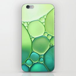 Jade Ombre Bubbles iPhone Skin