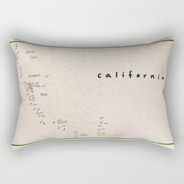 California Connect-the-Dots Rectangular Pillow