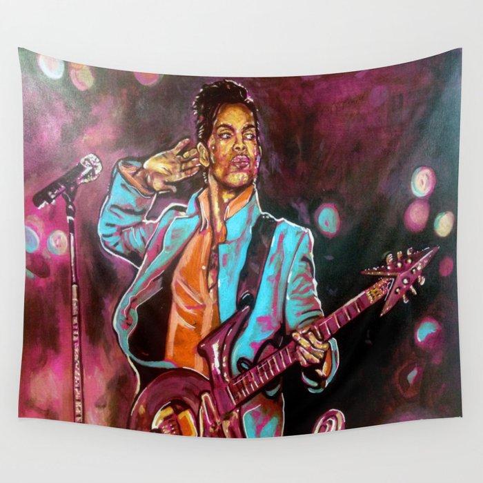 Purple Funk Wall Tapestry