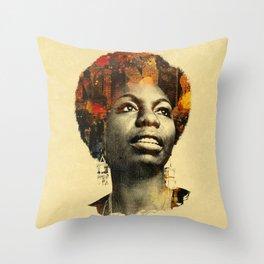Nina Simone Throw Pillow