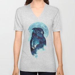 Midnight Owl Unisex V-Neck