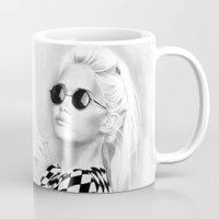 tinker bell Mugs featuring Bell by donotseemeart