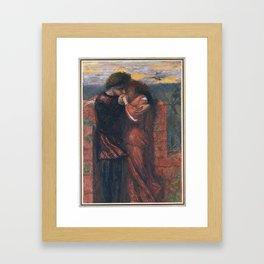 Dante Gabriel Rossetti 1828–1882   Carlisle Wall (The Lovers) Framed Art Print