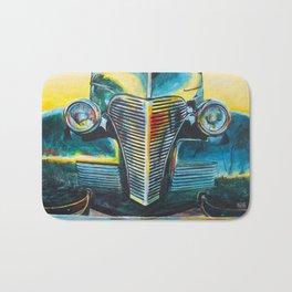 '38 Chevrolet Master Deluxe (Green roadster) Bath Mat