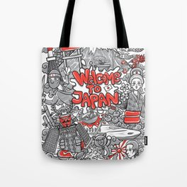 welcome to japan illustration Tote Bag