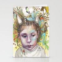 creativity Stationery Cards featuring Creativity by busymockingbird